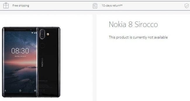 Nokia zřejmě v tichosti pozastavila prodeje modelu 8 Sirocco