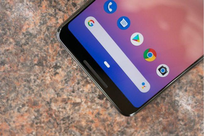 Android ovládání gesty