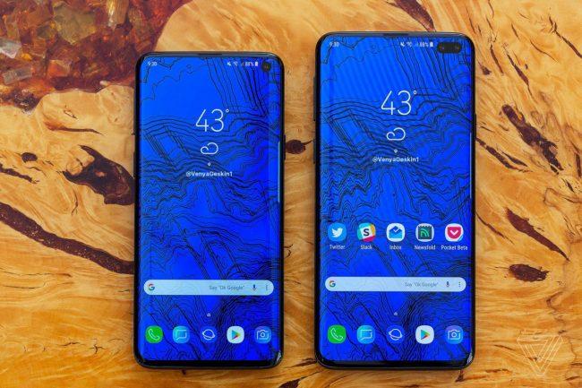 Takhle by měl vypadat Samsung Galaxy S10 (vlevo) a Galaxy S10+ (autor: VenyaGeskin1)