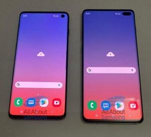 Galaxy S10 (vlevo) a S10+ v celé své kráse