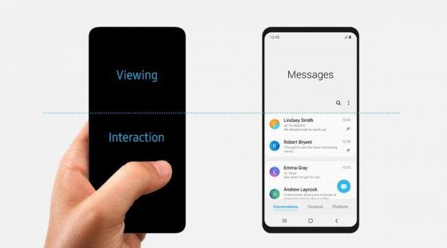 Krátce na to původní design telefonu (Galaxy S10) Samsung nahradil upravenou grafikou :-)