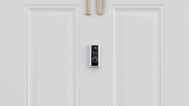 Dveřní kamera je napojená na bezpečnostní síť