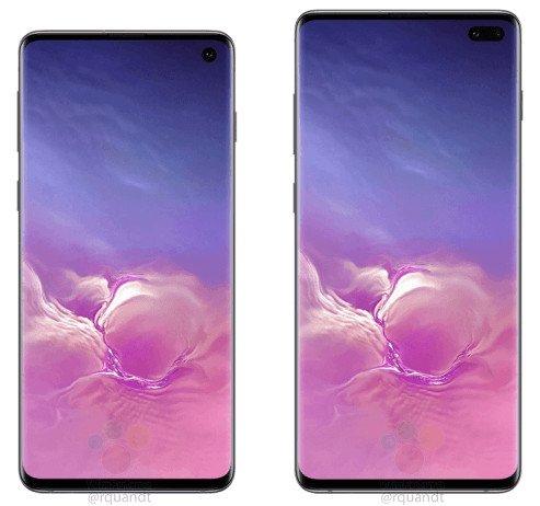 Takto bude vypadat Samsung Galaxy S10 (vlevo) a Galaxy S10+. Oficiálního představení se dočkáme 20. února