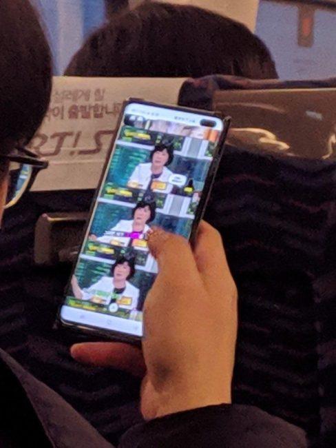 Testovací prototyp Samsungu Galaxy S10+ na první fotografii
