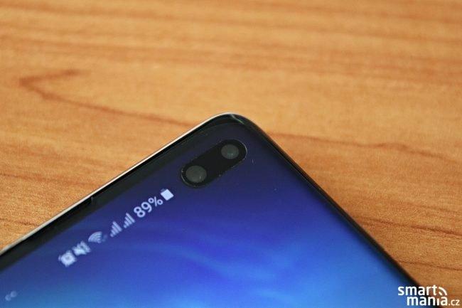 Samsung Galaxy S10 a ochranná fólie - tvrzené sklo