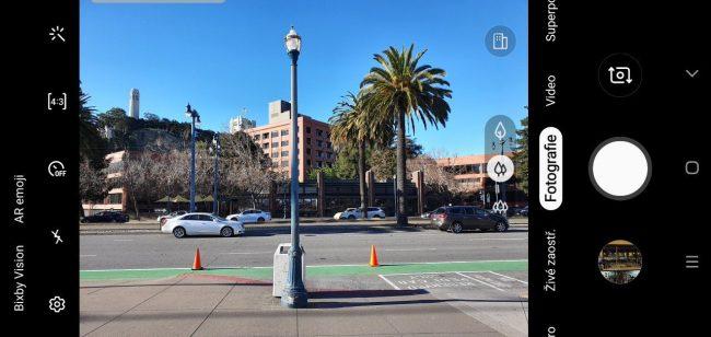 Takhle vypadá aplikace pro focení na Galaxy S10