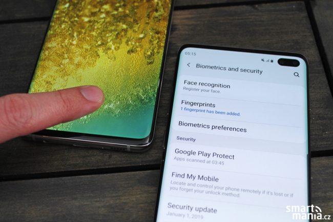 Samsung Galaxy S10 a S10+ nabízejí ultrasonickou čtečku přímo v displeji