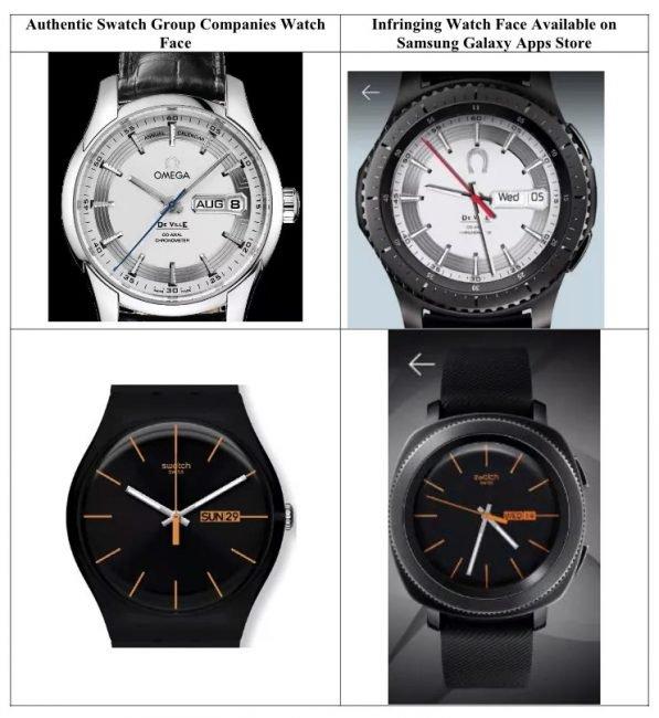 Zde je přehled ciferníků od výrobců třetích stran, kvůli kterým chce Swatch žalovat Samsung.