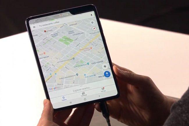 Samsung Galaxy Fold s ohebným displejem