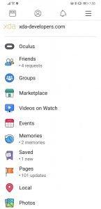 Facebook UI 4
