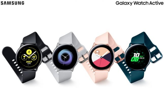 Samsung Galaxy Watch Active ve všech barevných provedeních