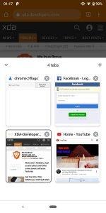 Google Chrome Bottom Toolbar Tabs 2