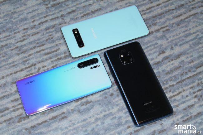 Tak který byste si vybrali? Huawei P30 Pro, Huawei Mate 20 Pro či Samsung Galaxy S10+? :-)