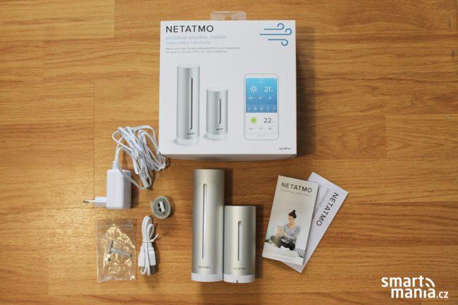 Meteostanice Netatmo: obsah balení