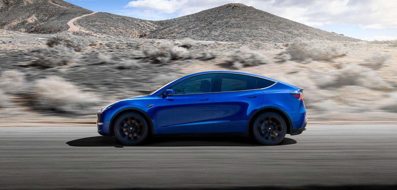 Tesla Model Y blue
