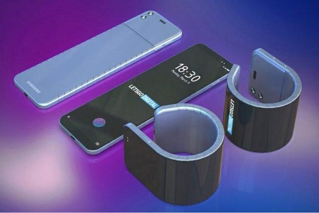 bendable smartphone samsung patent