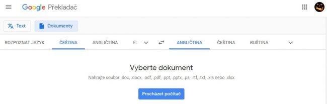 Překladač Google a překlad dokumentů