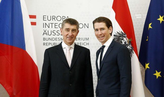 Andrej Babis Sebastian Kurz 2015