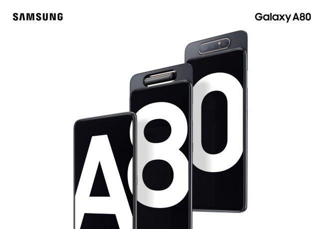 Samsung Galaxy A80: fotoaparát se vysune a otočí