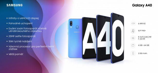 Infografika: Samsung Galaxy A40