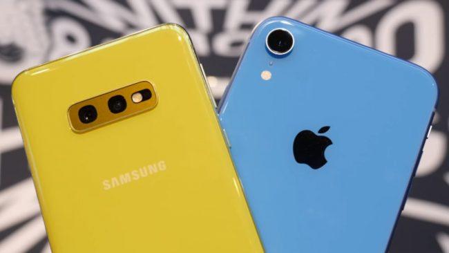 Galaxy S10e iPhone Xr