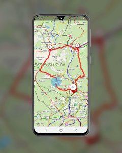 Galaxy S40 seznam mapy