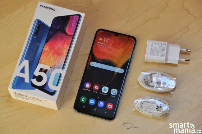 Samsung Galaxy A50 & obsah balení