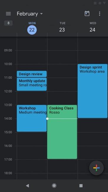 Google přidal podporu tmavého režimu do aplikace Kalendář