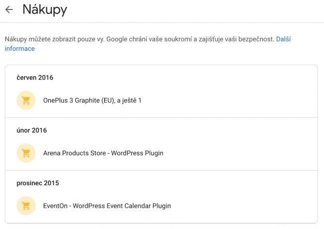Google shromažďuje informace o vašich nákupech. Smazání není příliš snadné