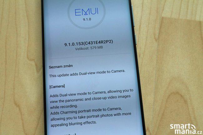 Huawei P30 Pro dostává novou aktualizaci. Zpřístupňuje Dual View záznam videa