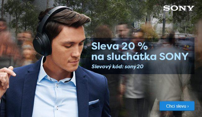 Sony sluchatka sleva