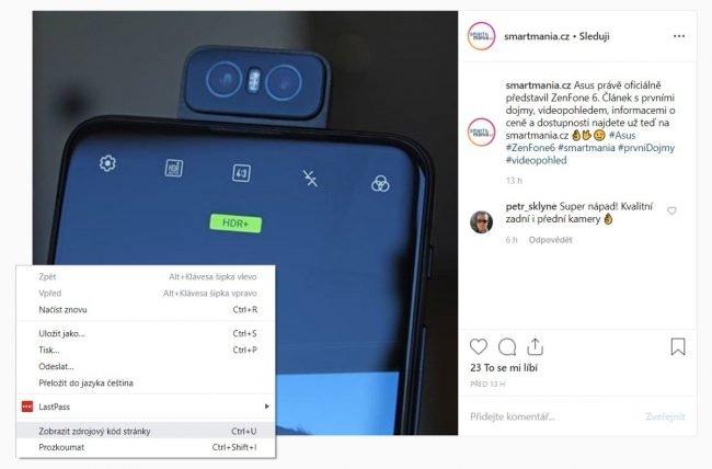 Jak stahovat fotky z Instagramu na PC?