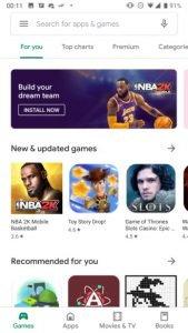 Play Store New UI 1