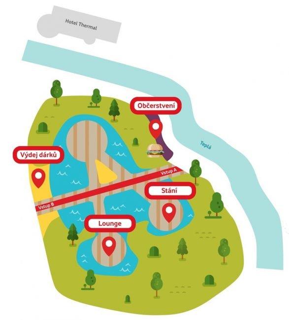Vodafone pláž 2019 – mapa