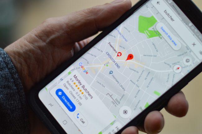google maps mapy navigace