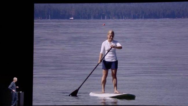 paddleboarding apple keynote 2017