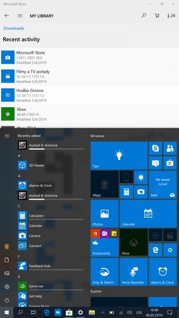 Windows 10 na Lumii 950 XL (screenshot)