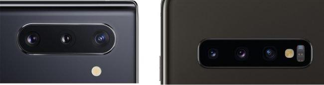 Galaxy Note 10 vs. S10+ fotoaparát