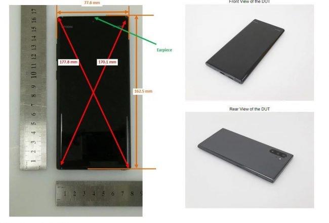 Samsung Galaxy Note 10 na snímcích z FCC