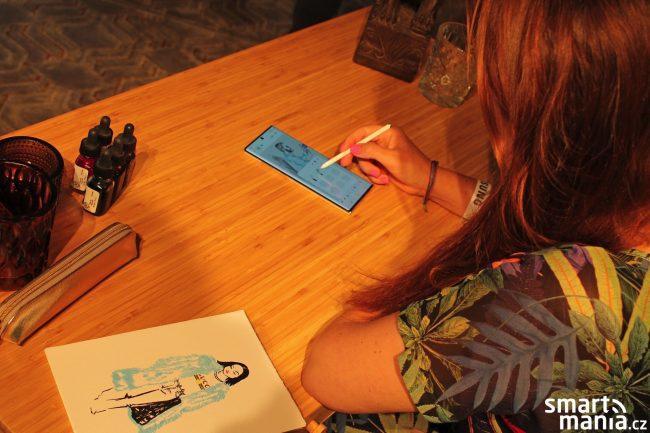 Galaxy Note 10+ a kreslení s perem S Pen