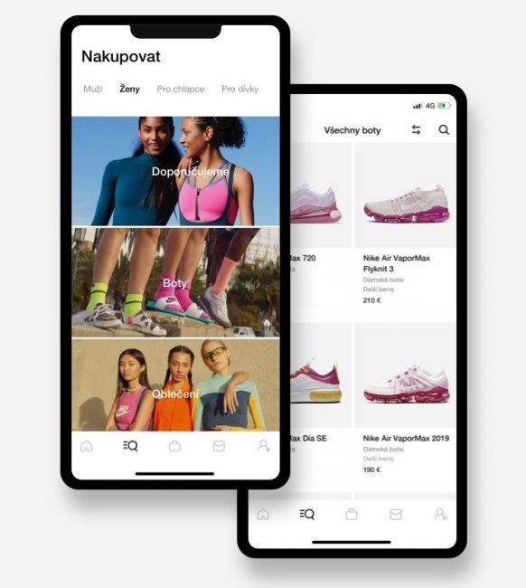 Nike aplikace