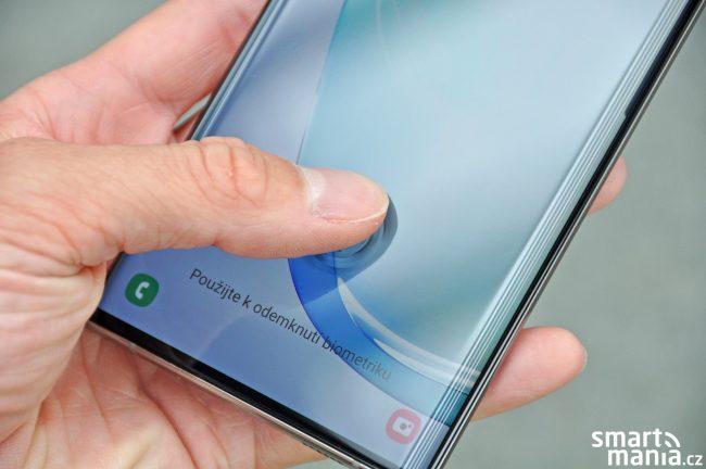 Samsung Galaxy Note 10 - čtečka otisků prstů