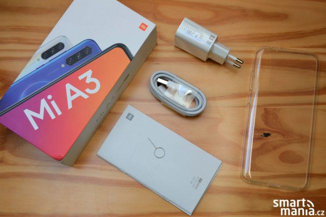 Xiaomi Mi A3 a obsah balení