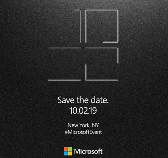 Pozvánka na představení nových zařízení rodiny Microsoft Surface