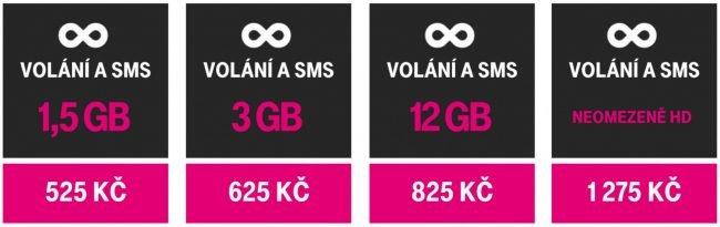Přehled hlavních tarifů T-Mobile