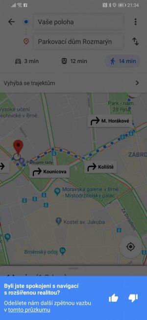 Google Mapy AR3