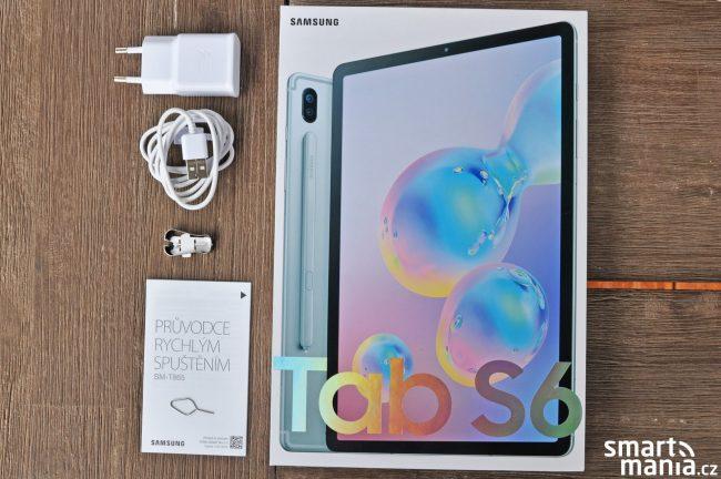 Samsung Galaxy Tab S6 a obsah balení