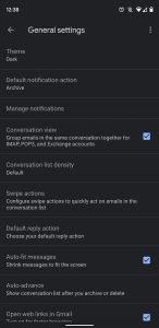 gmail dark theme 2 9to5