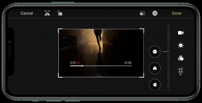 Vylepšený editor videa v iOS 13