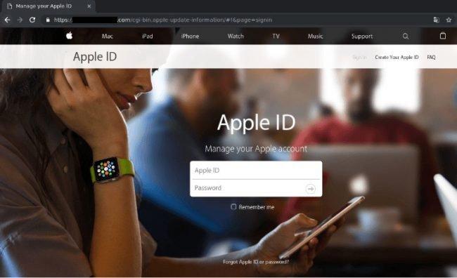 icloud phishing